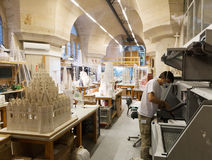 BARCELONA, SPAIN - DECEMBER 22, 2013: Work for construction of S Stock Photography