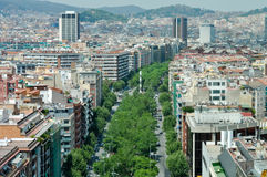 Barcelona Spain Downtown Stock Images