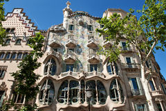Barcelona, Spain, Europe - Casa Batllo designed by Antoni Gaudi Royalty Free Stock Photography