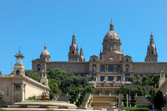 BARCELONA, SPAIN/EUROPE - JUNE 1 : National Palace in Barcelona Stock Photography
