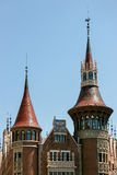 BARCELONA SPAIN/EUROPE - JUNI 1: Gotisk architetcure i Barcel Fotografering för Bildbyråer