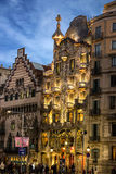 Barcelona, Spain. Famous building Casa Batllo, Antoni Gaudi Stock Photography