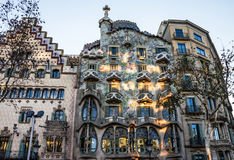 Barcelona, Spain. Famous building Casa Batllo by Gaudi Royalty Free Stock Image
