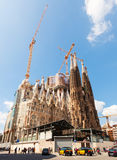 Barcelona, Spain. Famous Church by Gaudi Stock Photography