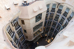 Barcelona in Spain. Famous house Casa Mila La Pedrera by Gaudi. Stock Photo