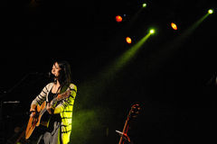 Kina Grannis band performs at Music Hall Stock Photography