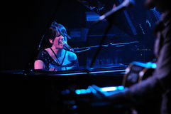 Rebeca Jimenez band performs at Luz de Gas Stock Image