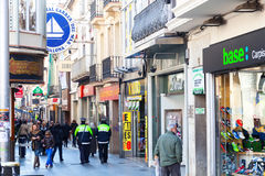 Shopping street of Badalona. Barcelona Stock Photo