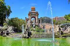 Barcelona, Spain. Fountain Monumental in Park Ciutadella, Barcelona, Spain royalty free stock photo