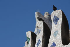 Barcelona, Spain (Gaudi & Birds) Royalty Free Stock Images