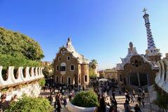 Barcelona, Spain, Gaudi Park. Beautiful architecture of Gaudi park in Barcelona, Spain Royalty Free Stock Photo