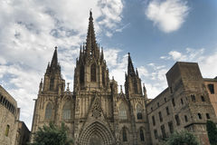 Barcelona Spain: the gothic cathedral Stock Photography