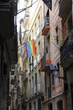 Barcelona spain gothic modern street stock photography