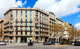Barcelona, Spain. Gran Via de les Corts Catalanes Royalty Free Stock Photos