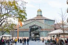 barcelona spain Historisk byggnad av Royaltyfri Foto
