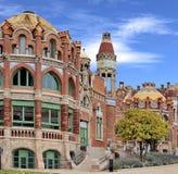 Barcelona Spain, Hospital de Sant Pau stock image