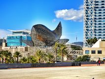 Barcelona, Spain. Iconic Fish was designed by famous Frank Gehry studio Stock Photography