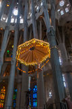 BARCELONA, SPAIN: Interior of Sagrada Familia. Stock Photos