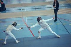 Barcelona, Spain, 04-06-2019. International Fencing Championship Trofeu Sant Jordi de Barcelona stock images
