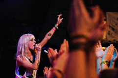 The Sounds performs at Apolo Royalty Free Stock Photos