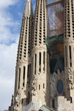 BARCELONA, SPAIN - JANUARY 2013: La Sagrada Familia - constructi Royalty Free Stock Photography