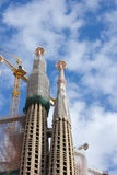 BARCELONA, SPAIN - JANUARY 2013: La Sagrada Familia - constructi Stock Images