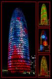 BARCELONA, SPAIN - January 01, 2015: Agbar Tower designed by Jea Stock Image