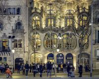 Gaudi Batllo House Building, Barcelona, Spain royalty free stock images
