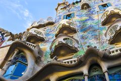 One of the creations of the architect Gaudi Casa Batllo house during the construction of this house, the architect drew inspiratio. BARCELONA, SPAIN - 11 JANUARY Royalty Free Stock Photo