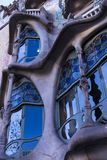 One of the creations of the architect Gaudi Casa Batllo house during the construction of this house, the architect drew inspiratio. BARCELONA, SPAIN - 11 JANUARY Royalty Free Stock Photos