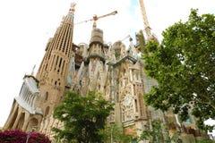 BARCELONA, SPAIN - JULY 12, 2018: The Basilica i Temple Expiatori de la Sagrada Familia, Barcelona, Catalonia, Spain stock photo