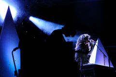 Beach House band performs at Barcelona Stock Images