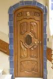 Decorative door in Casa Batllo royalty free stock photo