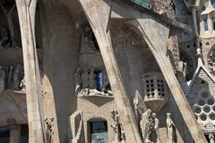 BARCELONA, SPAIN - JULY 8: La Sagrada Familia - the Cathedral de Stock Image