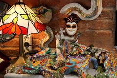BARCELONA, SPAIN - JULY 8, 2014: Souvenirs of the Barcelona mosa Royalty Free Stock Photos
