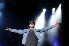 Tom Meighan, singer of Kasabian Royalty Free Stock Photos