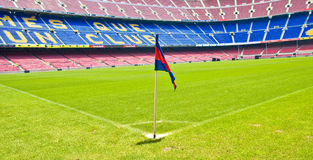 BARCELONA, SPAIN-JUNE 12: Stadium Camp Nou, FC Bar Royalty Free Stock Image