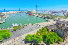Panorama  Barcelona. State Agency for Tax Administration, Tax Ag Stock Images