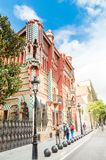 Casa Vicens house designed by Antoni Gaudi. Barcelona, Spain - June 7, 2018: Casa Vicens house designed by Antoni Gaudi royalty free stock photography
