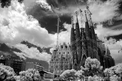 BARCELONA SPAIN - JUNE 9: La Sagrada Familia - the impressive ca Royalty Free Stock Photography
