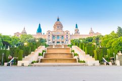 National Art Museum of Catalonia in Barcelona. Royalty Free Stock Photo