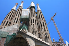 BARCELONA, SPAIN. La Sagrada Familia - cathedral designed by architect Gaudi, built on 19 March 1882 and is not finished, May 11, 2013 Stock Images