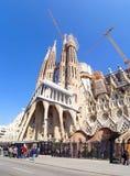 BARCELONA, SPAIN, 21.2.2017: La Sagrada Familia stock images