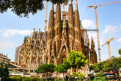 La Sagrada Familia cathedral in Barcelona, Spain Stock Photography