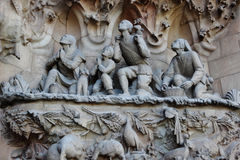 BARCELONA SPAIN  La Sagrada Familia  part Royalty Free Stock Photography