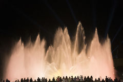 Barcelona Spain: the Magic Fountain Royalty Free Stock Image