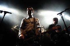 White Lies band performs at Apolo Royalty Free Stock Photos