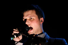 White Lies band performs at Apolo Royalty Free Stock Photography