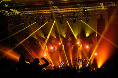 Mumford and Sons band performs at Barcelona Royalty Free Stock Image