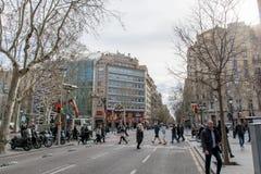 BARCELONA SPAIN - MARCH 19, 2018 : Barcelona, Spain. Famous building Casa Batllo by Gaudi stock photo